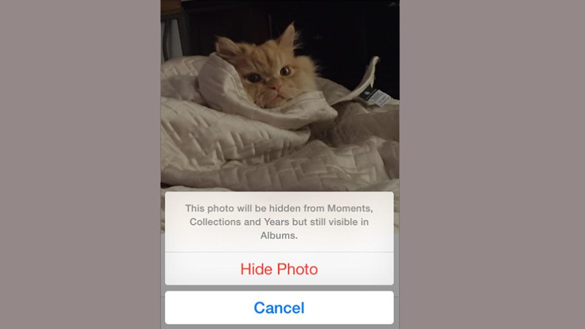 hide photos iOS 8 secret features