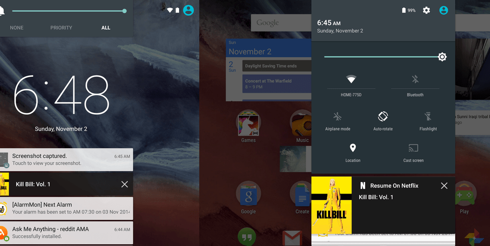 Google Nexus 9 running Android Lollipop