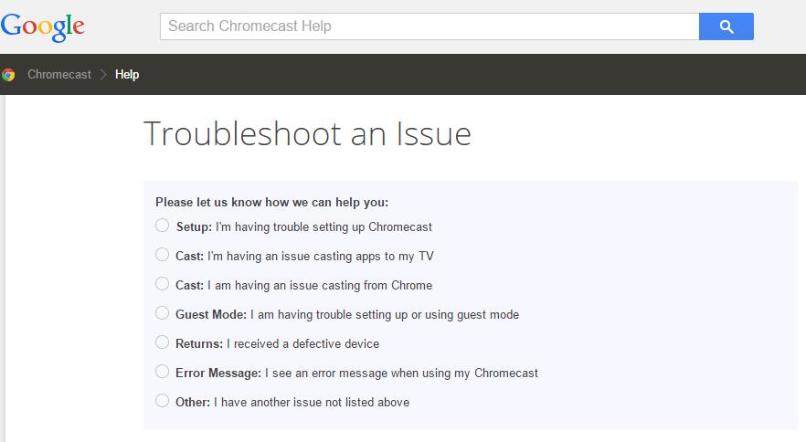 Troubleshooting Chromecast Issues