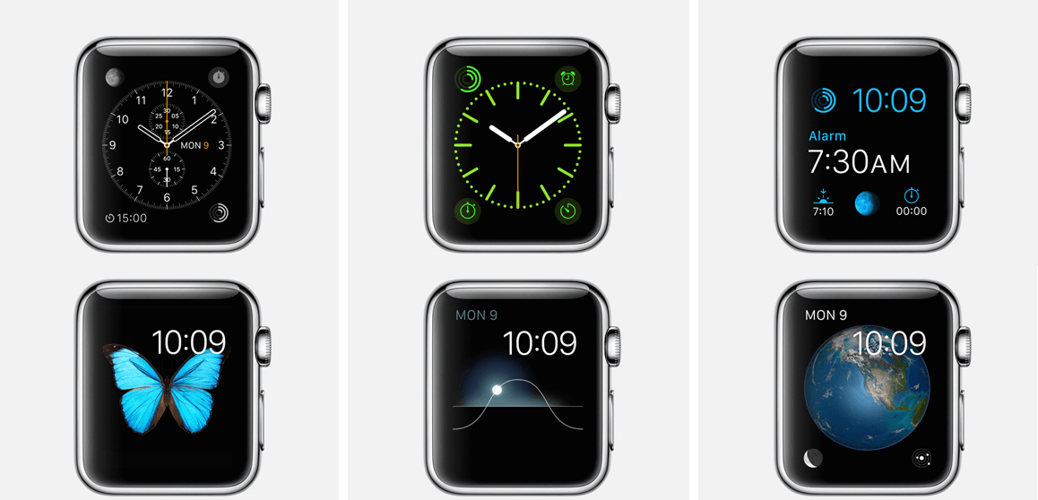 Apple Watch Display with watch faces