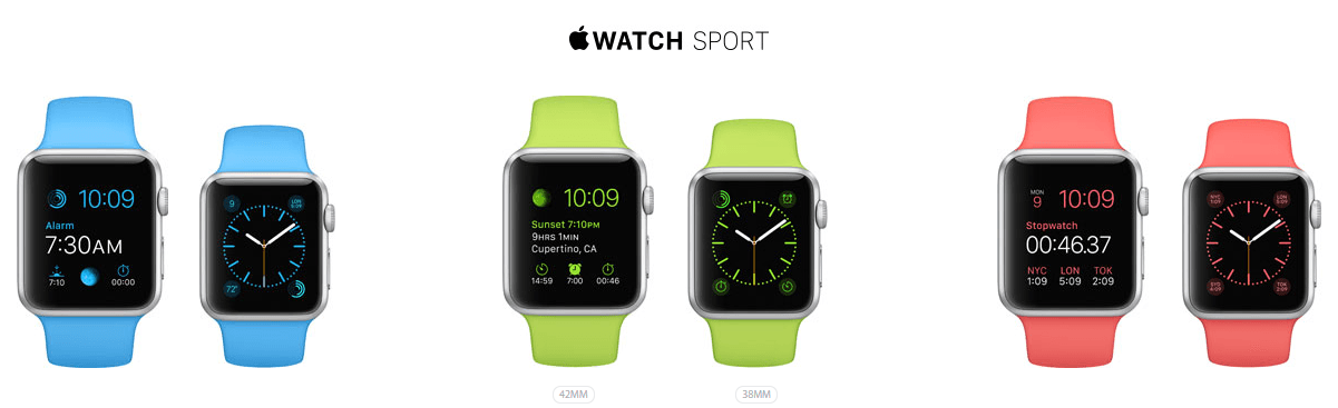 Apple Watch Sport Collection