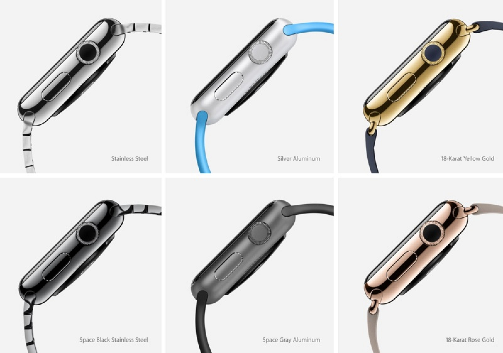 Apple Watch cases are available with different material