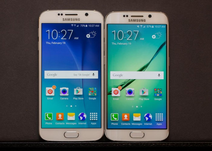 Samsung Galaxy S6 Vs Samsung Galaxy S6 Edge - front display comparison