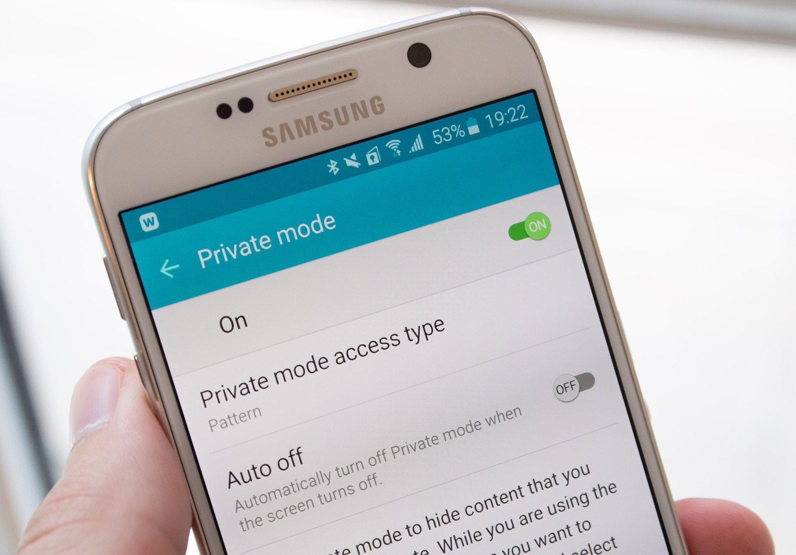 Samsung galaxy s6 tips to use private mode settings