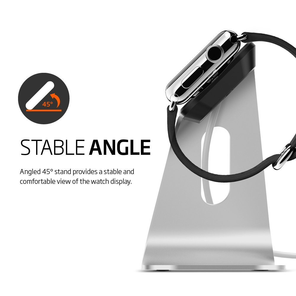 Spigen Apple Watch Stand S330 comes with stable 45 degree angle