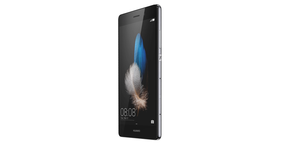 Huawei P8 Lite in Black Color Side View