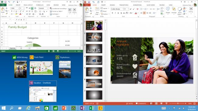 Tech Preview Three program snap and suggestions  in windows 10