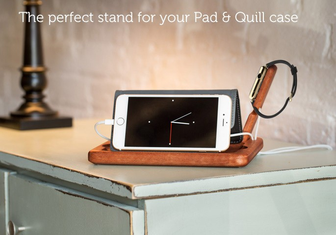 The Timber Catchall for Apple Watch pad & quill case