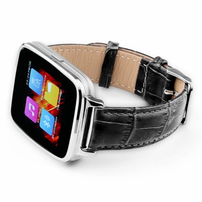 Asus Zenwatch like Oukitel A28 smartwatch has metal frame and leather starp