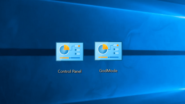 GodMode feature of Windows 10