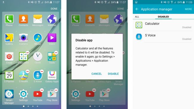 Samsung Galaxy S6 Edge Display running TouchWiz themepack