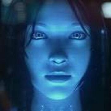 Cortana Blue Female Assistant
