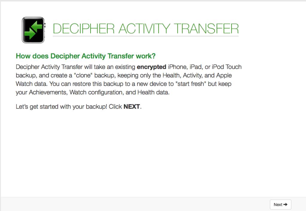 Decipher-Activity-Transfer-start-screen