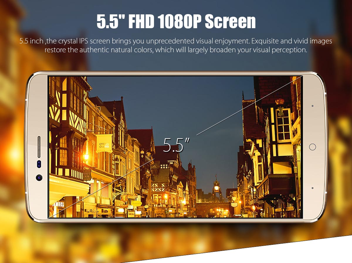 Elephone P8000 4G Phablet has powerful display with 5.5 inch screen