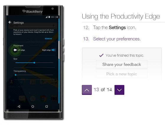 How to BlackBery-Privs-Productivity-Edge finishing configuration