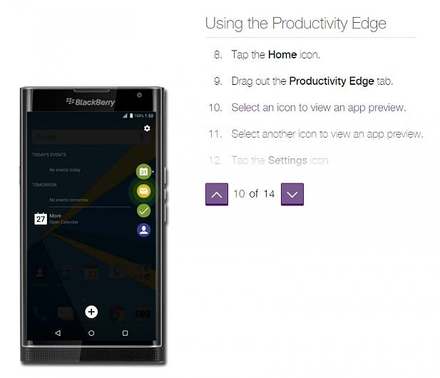 How to use BlackBery Privs Productivity Edge