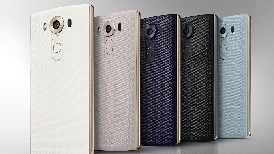 LG V10 side by side