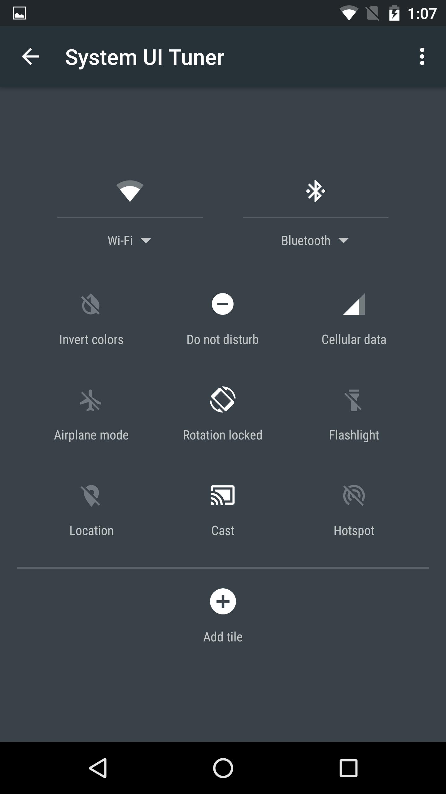 System UI turner settings