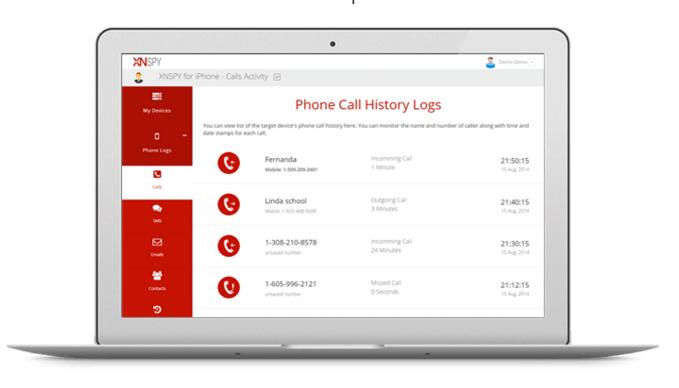 XNSPY iPhone parental monitoring app