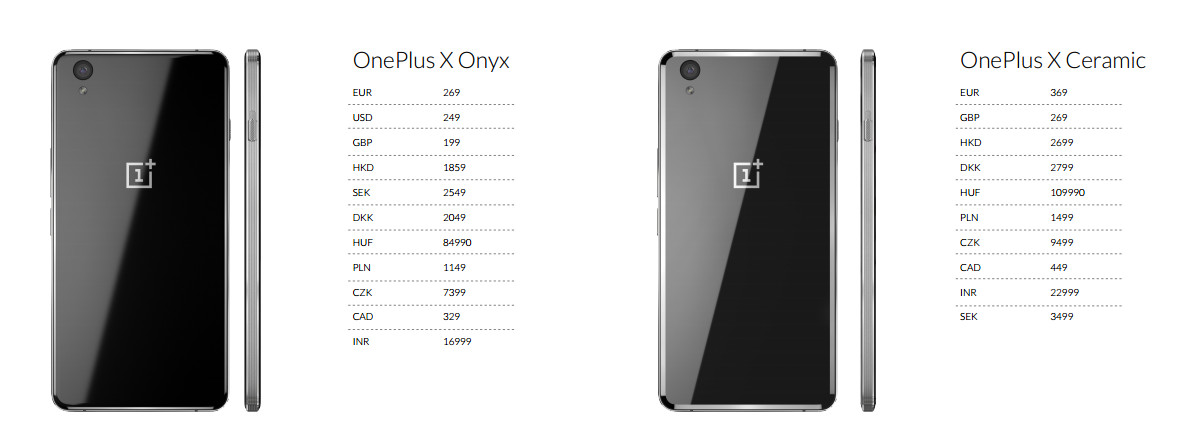OnePlus X prices are affordable as compared to OnePlus 2