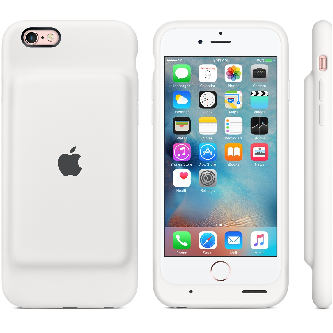 Apple iPhone 6S Smart battery case back view
