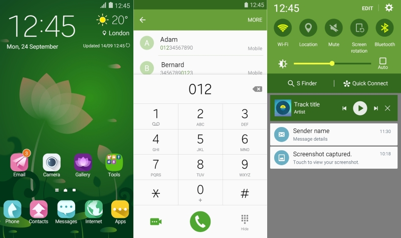 Lotus-Green Galaxy Note 5 and Galax6 theme