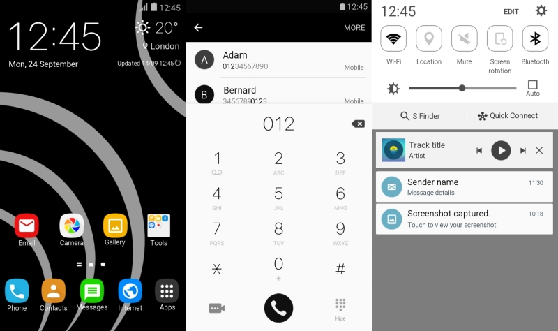 MINUWhite Dark theme for Note 5 and S6