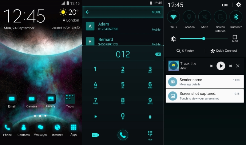 Orbit theme for Galaxy Note 5 and Galaxy S6