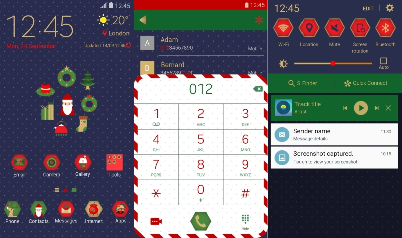 Samsung Galaxy Note 5 christmas market theme
