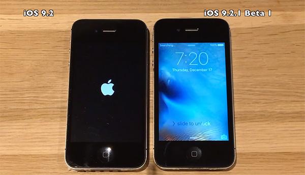 iOS 9.2.1 Vs iOS 9.2 Speed test