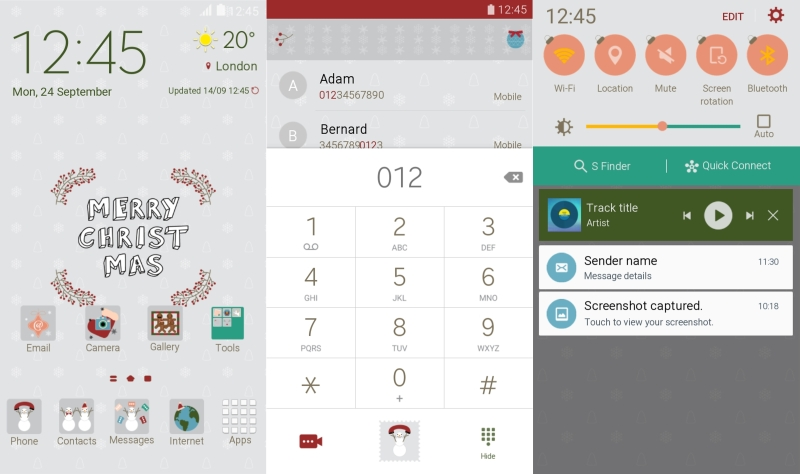 theme-christmas theme for Galaxy Note 5 and GAlaxy S6