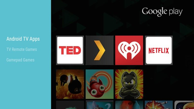 Apps on Android TV