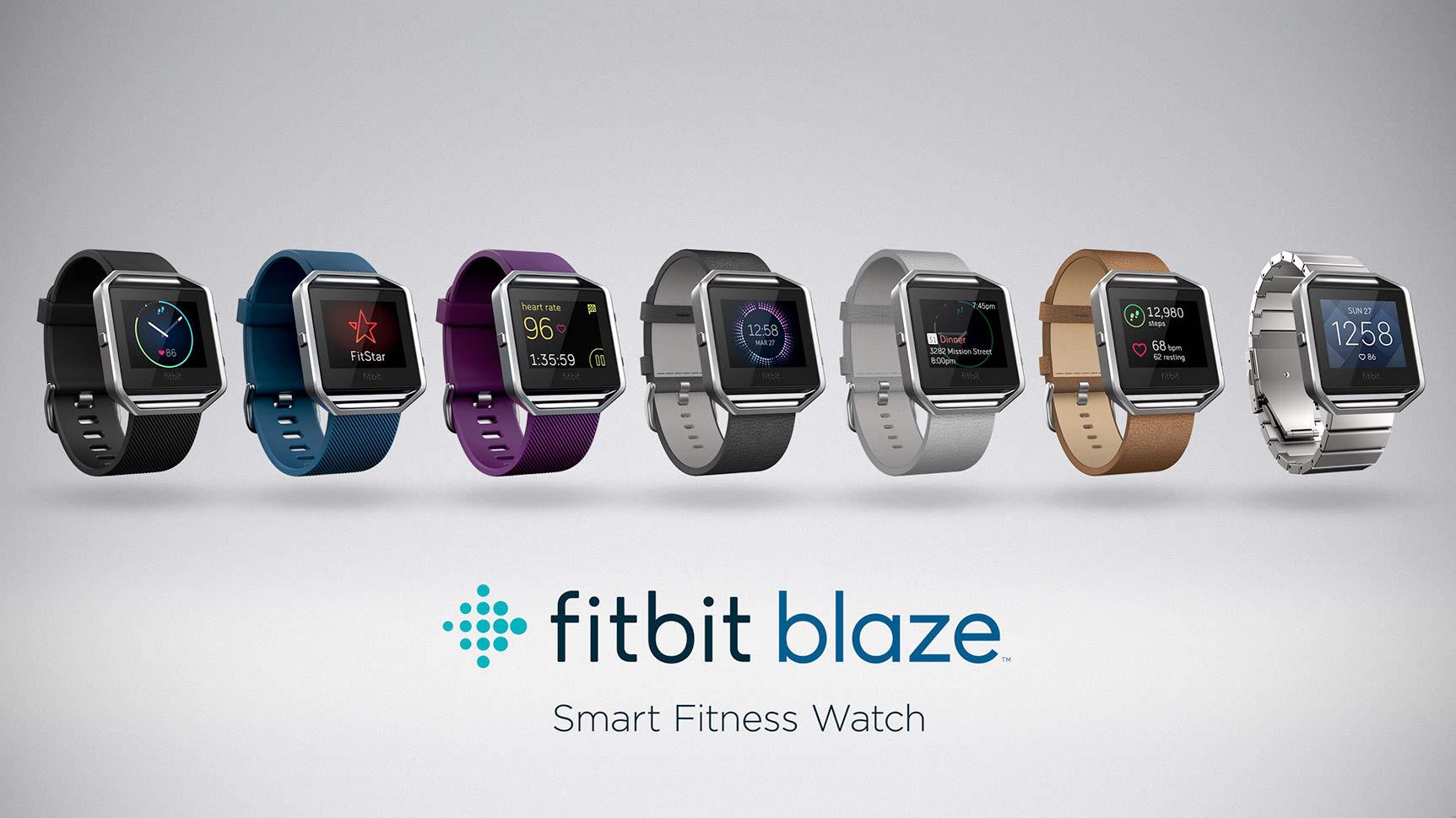 Fitbit Blaze has seven different designs