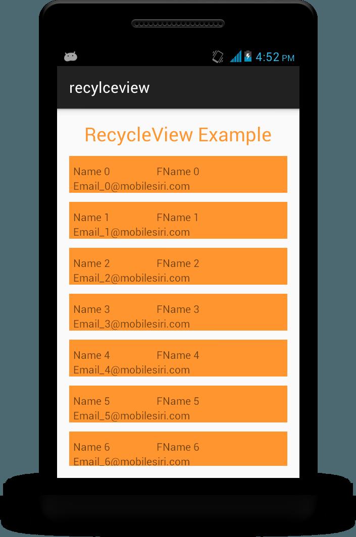 recyclerView-mobilesiri