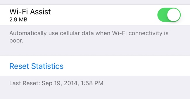 wifi assist new ios 9.3 data usage feature