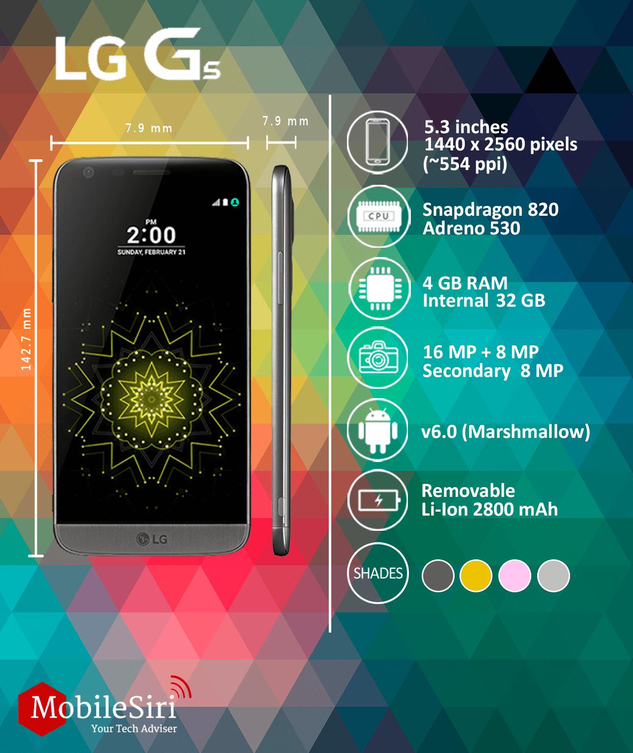 LG G5 mobilesiri mwc 2016
