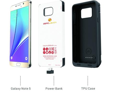 ZeroLemon Note 5 battery cases