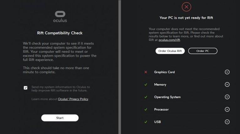 Oculus Rift utility to check Virtual reality ready PC