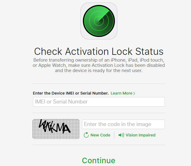iPhone Activation Status Checking tool