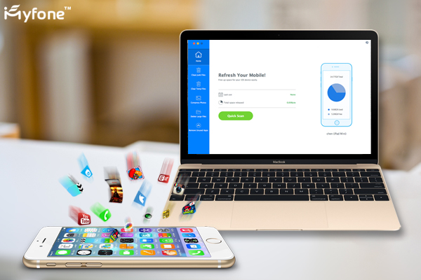 iMYfone Umate iPhone 6s Storage cleaner is a complete one click solution