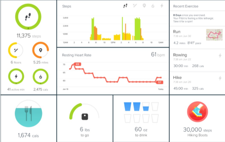 Fitbit Charge HR App to process data