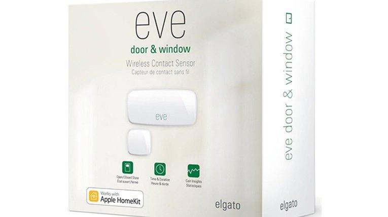 Apple HomeKit enabled accessories: Elgato Eve Door & Window Wireless Contact Sensor
