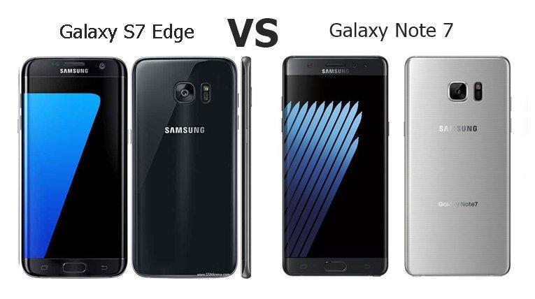 S7 Edge vs Note7 Specs
