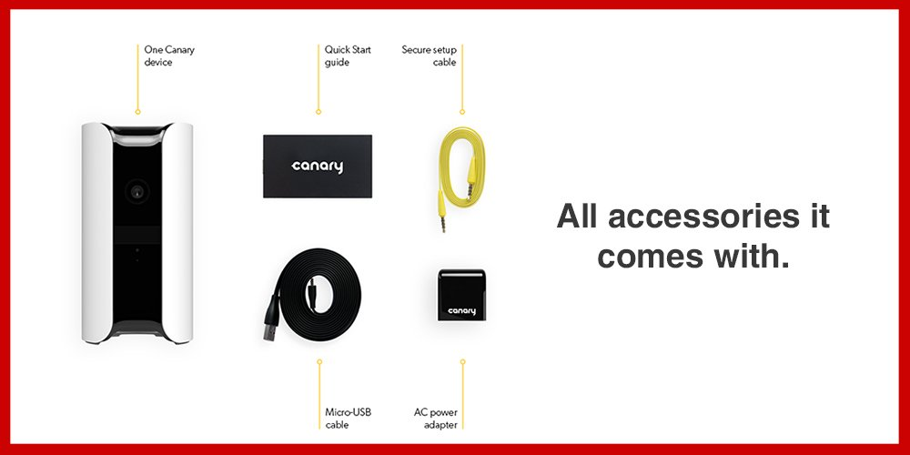 all the accessories Canary comes with